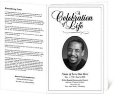 Free Funeral Program Sample 364 Templates Template Printable