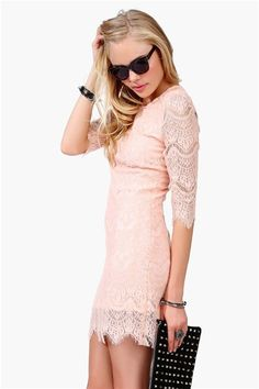 such a pretty dress for bridesmaids #pink #lace #blush #bridesmaids #dress