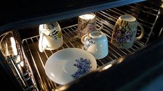When you decide to paint your coffee mug, baking is a must! 200 C degrees is enough to keep the design safe.