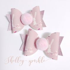 A personal favourite from my Etsy shop https://www.etsy.com/uk/listing/576678294/pink-bunny-hair-bow-for-girls-easter