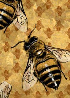 "Spirit Totem Animals:  ""Bee Pathfinder"" card, by felixxkatt, at deviantART."
