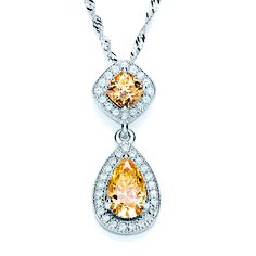 BOUTON pear drop yellow pendant slider necklace