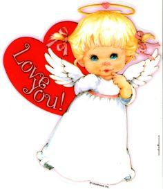 Ruth Morehead Angels | Serie Ángeles de Ruth Morehead | San Valentín | Tamaño Grande XL ...
