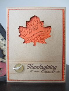 This Simple and Sweet Leafy Thanksgiving Greeting Card is easy to make and perfect for any fall invitation or Thanksgiving greeting card.