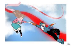 Sweet Kite & Miriam, homage by Roberta Gandolfo!! Thank you :) #LuminaThanks