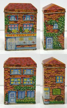 Vintage Little House Tin The Tea Cozy Lillian by MysticLily