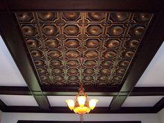 metal tin ceiling tiles - Google Search