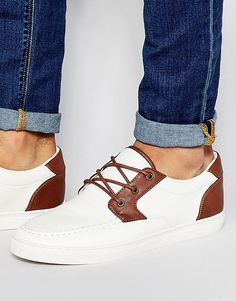 2182ec12a7269d Image 1 of ASOS Boat Shoes in White