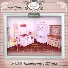 irrie's Dollhouse @ Cosmopolitan July 18th  Second Life Original Mesh Vintage Gacha Grandmother's Kitchen