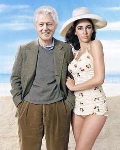 Bill Clinton & Liz Taylor - Worth1000 Contests