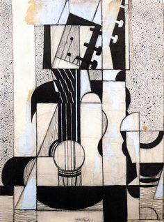 Juan Gris • Still Life with Guitar, 1912-13