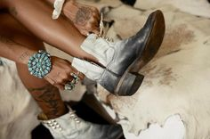 Spell & the Gypsy Collective – Women's online Fashion, boho clothing and accessories channelling our inner gypsy spirits – adornment of leather, feathers & turquoise. Hippie Chic, Gothic Hippie, Hippie Masa, Girl Power Tattoo, Studded Ankle Boots, Spell Designs, Look Chic, Swagg, Passion For Fashion