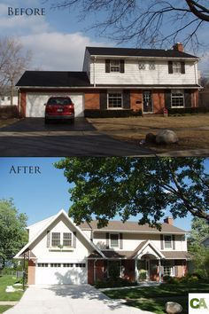 trendy Ideas for house colonial exterior makeover decor Home Exterior Makeover, Exterior Remodel, Garage Exterior, Exterior Signage, Exterior Cladding, Exterior Design, Exterior Colonial, Craftsman Exterior, Detached Garage Designs