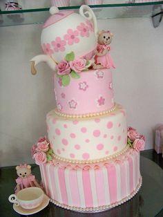 tea party cake ~ adorable!