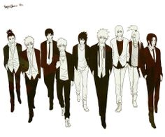 The three that look best here are Gaara, Itachi, and Sai. <3