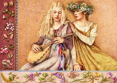 The Lute Player by Anne Yvonne Gilbert