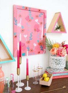 Pattern on pattern diy wall art