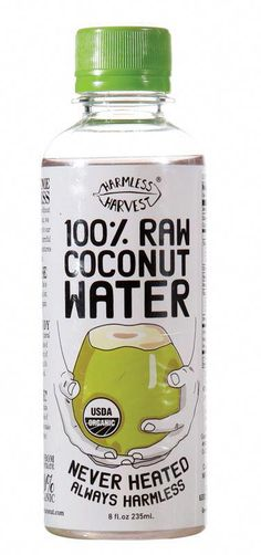 Harmless Harvest Coconut Water - Most brands of coconut water are bland shadows of the clear, sweet nectar of a young coconut. Then there's Harmless Harvest, a raw, unpasteurized version sustainably harvested from organic coconut groves in Thailand. Raw Coconut, Coconut Grove, Coconut Water, Best Nutrition Food, Health And Nutrition, Proper Nutrition, Nutrition Guide, Nutrition Products, Healthy Food