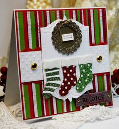 Christmas Card Handmade Greeting Card Season's by CardInspired