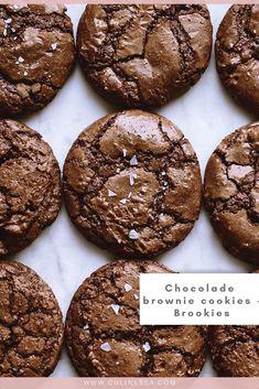 Sweet Desserts, Sweet Recipes, Baking Recipes, Cake Recipes, Brookies, Healthy Cake, Cupcake Cookies, Chocolate Chip Cookies, Food Cakes