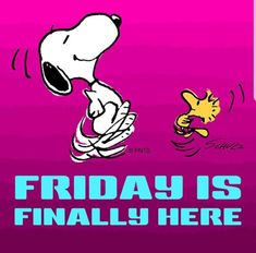 I've waited all week for this Happy Day Quotes, Its Friday Quotes, Friday Jokes, Fun Quotes, Morning Quotes, Snoopy Images, Snoopy Pictures, Tgif Pictures, Emoji Pictures