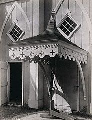 Gingerbread Trim Pump House, Kennebunk, Maine, Walker Evans, 1933