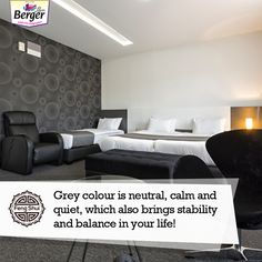 Looking at adding a touch of grey to your room for some sophistication? Go ahead and add it in small measures to bring a sense of balance! Feng Shui Tips For Home, Feng Shui House, Touch Of Gray, Gray Color, Bring It On, Couch, Grey, Room, Furniture