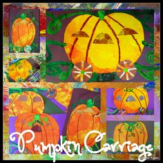 Magical Pumpkin Carriage Ride art project great for when teaching about fairy tales