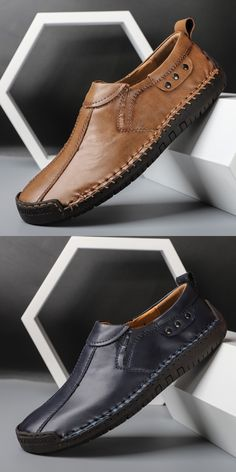 US 28.4 <Click to buy> Prelesty Big Size 38-48 Loafer Cow Leather Men Driving Shoes Moccasin Lightweight Easy Wear Durable Blue Shoes, Men's Shoes, Shoe Boots, Ankle Boots, Cow Leather, Suede Leather, Business Shoes, Martin Boots, Driving Shoes
