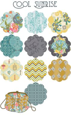Coolsunrise prints from Lilly Belle by Bari J for @Alexis Garriott R Taylor Gallery Fabrics