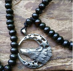 The Wolf, wolf totem, wolf prayer beads, wolf mala, totem prayer beads, totem mala, pagan prayer beads, pagan mala, wicca prayer beads by MagickAlive on Etsy