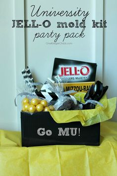 Make your own Go MU Party Pack or Hostess gift-Perfect for any Sports Team! #TeamJellO #shop