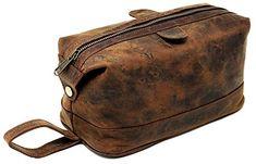 a7e7aca297 B07H6D3FNY Leather toiletry bag dopp kit - gift for men shaving pouch  makeup purse travel organizer