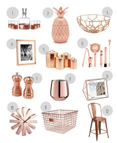 Copper - The New Metallic Accent - Hand Picked Habitat - - Copper mugs are a kitchen staple, but we are now seeing copper accents all over the house. Here are a few favorite accessories that won't break the bank. Rose Gold Room Decor, Rose Gold Rooms, Gold Bedroom Decor, Copper Decor Living Room, Copper Room, Home Decor Copper, Study Room Decor, Cute Room Decor, Décoration Rose Gold