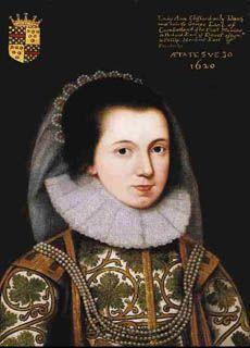 Portrait of Lady Anne Clifford in 1620  © Skipton Castle