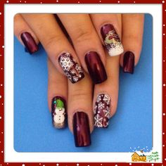 Christmas 2013 holiday nails