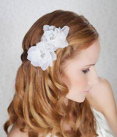 handmade wedding floral hair clips (gilded shadows) via The Marketplace at EmmalineBride.com