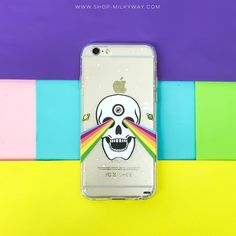 Clear TPU Case Cover Trippy Skull – Milkyway