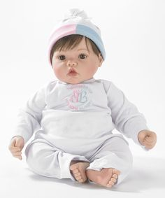 Look at this Brown-Haired Interactive Babble Baby 19'' Baby Face Doll on #zulily today!