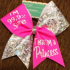 """""""I'm 99.9% sure that I'm a princess"""" this is such a cute bow"""