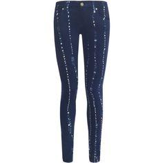 Paige Batik Indigo Verdugo Stretch Skinny Jeans ($355) via Polyvore