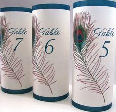 Peacock Table Numbers Luminaries