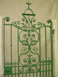 traditional wrought iron gate made by a blacksmith in England
