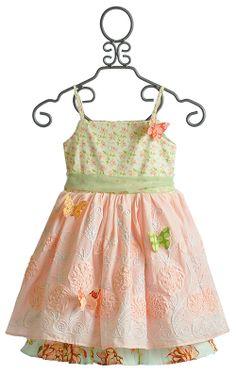 Butterfly Fantasia Dress by Moxie & Mabel in Peach