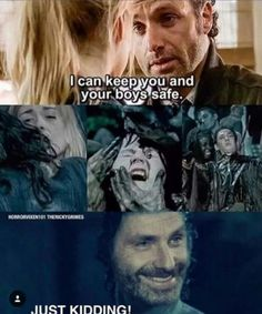 The Walking Dead Rick y sus bromas! The Walking Lifeless along with Influence on Our Walking Dead Funny, Walking Dead Quotes, Fear The Walking Dead, Walking Dead Zombies, Rick Grimes, E Cards, Twd Memes, Rick Y, My Sun And Stars