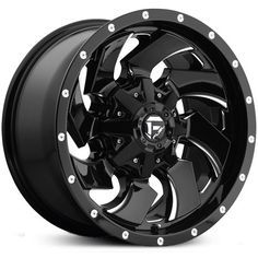 New 2016 Fuel Cleaver D574 wheel, gloss black milled rim.