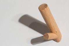 oak coat hook by Brian Beck