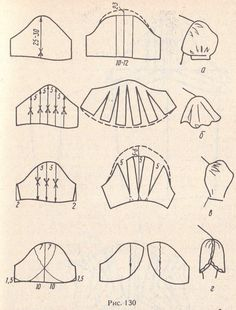 Моделирование различных фасонов рукавов