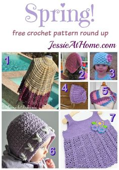 Spring! Free crochet patterns