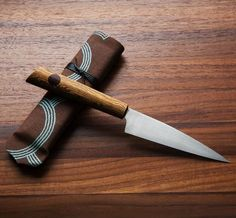 Bocote Classic French Utility Chef Knife handmade by Don Carlos Andrade.